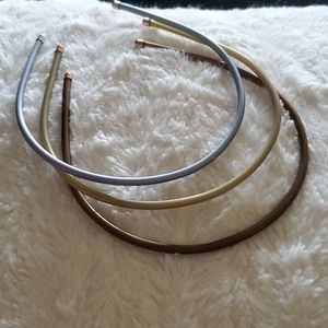 Set of Metallic Headbands